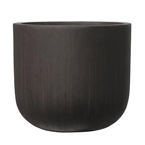 ファイバーセメント製 軽量植木鉢 オーク Uポット アンティークブラウン 40cm 植木鉢 - 拡大画像