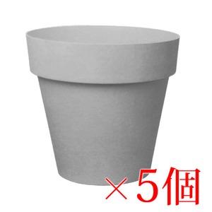 樹脂製 軽量 植木鉢 ライク ラウンド グレー 18cm 6号【5個入】 - 拡大画像
