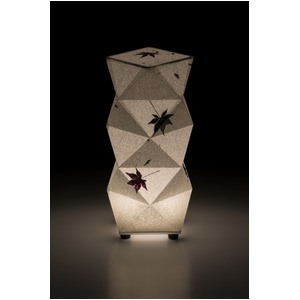 LED 和室 モダン照明 SQ303-acスタンドライト手漉き和紙もみじ【日本製】 - 拡大画像