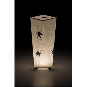 LED 和室 モダン照明 SQ304-acスタンドライト手漉き和紙もみじ【日本製】 - 拡大画像