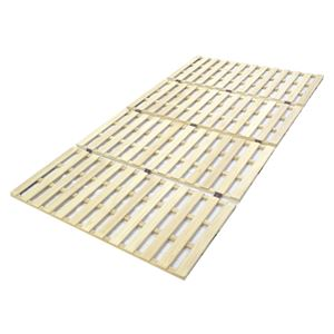 ロングタイプ 桐 すのこ ベッド セミダブル 幅120×奥行210cm 【完成品】 - 拡大画像