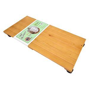 キャスター付き 置台/リビング用品 【60×30cm ライトブラウン】 木製 『マルチリビングキャリー』 【完成品】 - 拡大画像