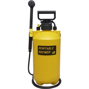蓄圧式 ポータブルシャワー/ガーデニング用品 【7L】 軽量 電力不要 肩掛けストラップ付き 〔洗車 散水 清掃〕 - 拡大画像