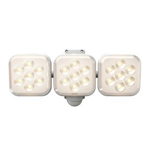 ムサシ 8W×3灯 フリーアーム式 LEDセンサーライト 電球色 LED-AC3025 - 拡大画像