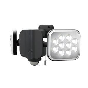 LED センサーライト/照明器具 【フリーアーム式 14W×2灯】 昼夜切替え機能 取り付け簡単 防雨 〔防犯対策用品〕 - 拡大画像
