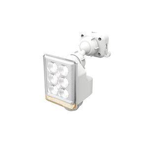 LED センサーライト/照明器具 【コンセント式 9W×1灯 750ルーメン】 フリーアーム式 リモコン付 ムサシ 〔防犯対策用品〕 - 拡大画像