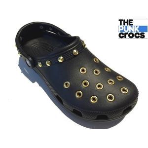 ゴールド パンク クロックス クラシック カスタム 黒 金 ブラック crocs サンダル 29cm(M11) - 拡大画像