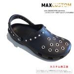 クロックス スワロフスキーxパンク カスタム黒 ブラック crocs custom SWAROVSKIxPunk 27cm(M9/W11)