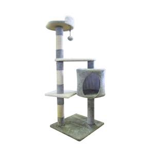 SunRuck キャットタワー 小型タイプ SR-CAT1829-GY グレー 据え置きタイプ 高さ110cm