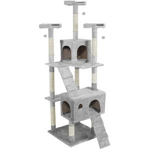キャットタワー 大型タイプ 据え置きタイプ 高さ170cm SR-CAT1830-GY グレー - 拡大画像