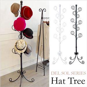 帽子ツリー(ポールハンガー/帽子掛け) スチール製 高さ170cm ブラック 『Del Sol』 - 拡大画像