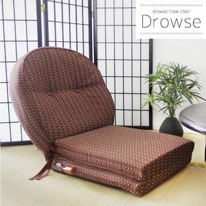 和風うたた寝座椅子/リクライニングチェア 【幅62cm×奥行き180cm】 張地:ファブリック素材 日本製 - 拡大画像