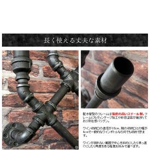 ウォールワインラック INDUSTRIAL(インダストリアル) 幅44×奥行き13×高さ88cm スチール 配水管デザイン ブラック RK-A820