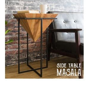 サイドテーブル プランター デザインテーブル ナイトテーブル 天然木 ST-L640 - 拡大画像