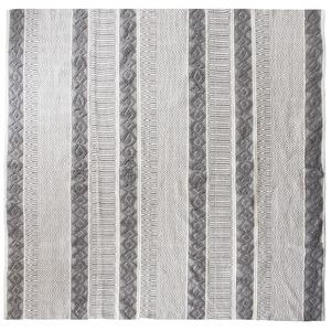 インド綿ラグMASALA 190×190cm トライバル柄 綿100% インド製 RG-TR1919A - 拡大画像