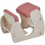 Keepy プロポーションチェア ホワイト×フローラルピンク 猫背 姿勢 チェア 学習チェア テレワーク CH-910 【組立品】