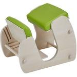 Keepy プロポーションチェア ホワイト×グリーンアップル 猫背 姿勢 チェア 学習チェア テレワーク CH-910 【組立品】