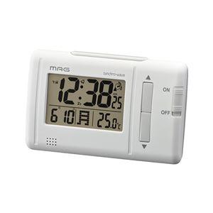 電波目覚まし時計/置き時計 【デジタル表示】 バックライト付き アラーム/スヌーズ機能/温度表示 『ファルツ』 - 拡大画像