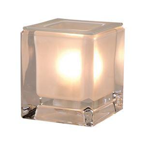 インテリアアロマランプ/照明器具 【クリア】 8.5×8.5×9.5cm プレスガラス 中間スイッチ付き - 拡大画像