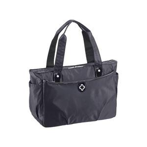 【マリクレール】 ボストンバッグ/旅行バッグ 【ブラック】 1〜2泊用 ナイロン製 〔トラベル 旅 遠出〕 - 拡大画像