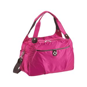 【マリクレール】 ボストンバッグ/旅行バッグ 【ピンク】 2〜3泊用 ナイロン製 〔トラベル 旅 遠出〕 - 拡大画像