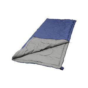 シュラフ/寝袋 【使用時:75×185cm】 表地:ポリエステル生地使用 収納袋付き 〔キャンプ レジャー アウトドア〕 - 拡大画像