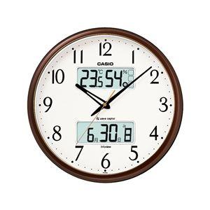 生活環境お知らせクロック/電波時計 【壁掛けタイプ】 大型液晶 温度 湿度 カレンダー - 拡大画像