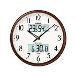 生活環境お知らせクロック/電波時計 【壁掛けタイプ】 大型液晶 温度 湿度 カレンダー