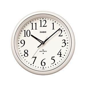 壁掛け電波クロック/掛け時計 【夜見えライト機能付き】 秒針停止機能 - 拡大画像