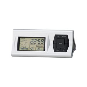 ウェザークロック ステーション/置き時計 【天気予報機能付き】 12時間気温変化グラフ アラーム・カレンダー - 拡大画像