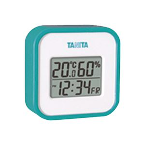 デジタル温湿度計 ブルー 388-07G - 拡大画像