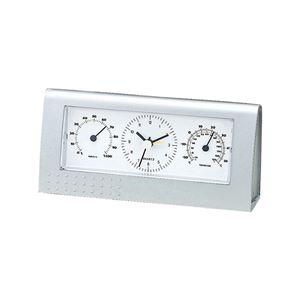 マルチクロック/置き時計 【アナログ表示】 アラーム機能 温度計・湿度計 - 拡大画像