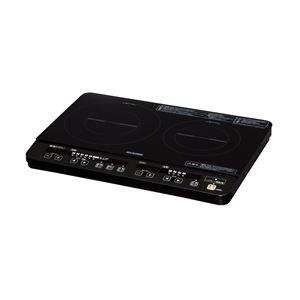 【アイリスオーヤマ】 IHコンロ/電磁調理器 【2口】 消費電力:1400W 加熱調理:6段階