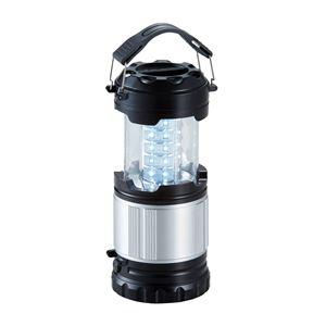 ラウンド型ランタンライト/照明器具 【30個 LEDライト付】 持ち手:2か所付け替え可 〔アウトドア キャンプ バーベキュー 災害時〕 - 拡大画像