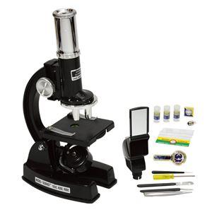 【Kenko】 顕微鏡 【倍率:100倍・450倍・900倍】 スライドグラス・ビュアヘッド・ピンセット・採集ピン・3倍拡大鏡付 - 拡大画像
