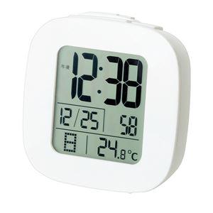 電波目覚まし時計/置き時計 【温度表示】 アラーム・スヌーズ機能 - 拡大画像