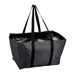 エコマイバッグ/買い物トートバッグ 【ブラック】 レジカゴ対応 ポリエステル製 - 拡大画像