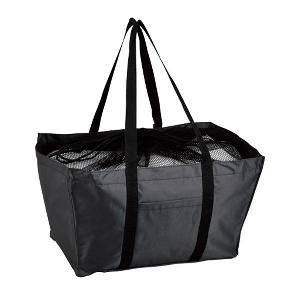 エコマイバッグ/買い物トートバッグ 【ブラック】 レジカゴ対応 ポリエステル製