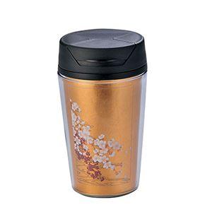 桜に流水 箔タンブラー A181-03005 - 拡大画像