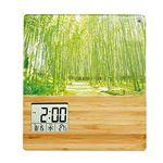 竹のフォトフレームクロック TP-603