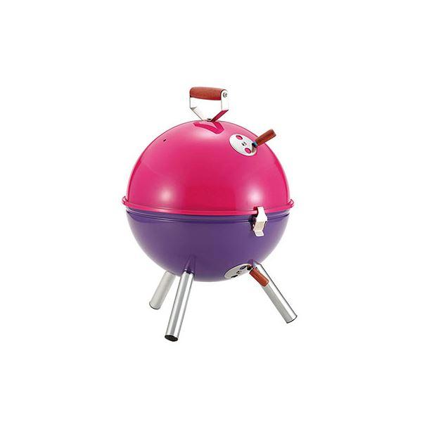 ミニバーベキューコンロ ピンク×パープル M-6372