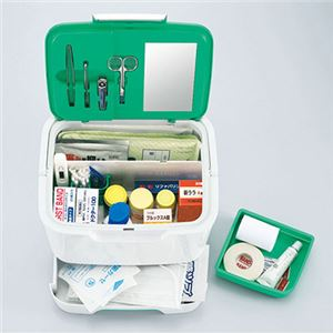 収納上手な救急箱(救急セット付) AS-300