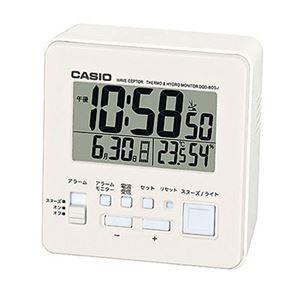温・湿度計付電波クロック ホワイト DQD-805J-7JF