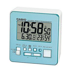温・湿度計付電波クロック パールブルー DQD-805J-2JF