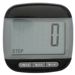 デジタル歩数計 ブラック TS-P003-BK