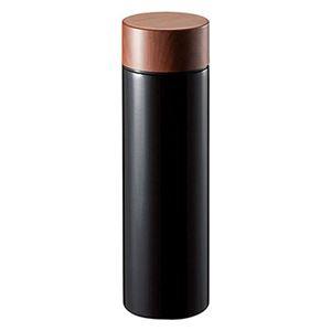 木目調サーモボトル 450ml ブラック TS-1381-009