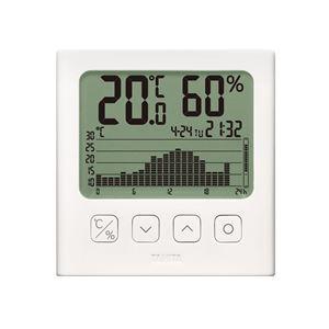 グラフ付きデジタル温湿度計 TT-581-WH  - 拡大画像