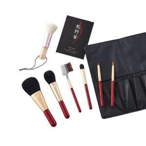 熊野化粧筆セット筆の心 KFi-207RW  - 拡大画像