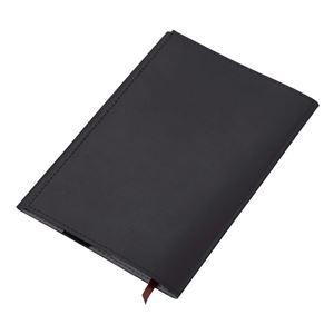 本革製ブックカバー文庫サイズ GLV2502B ブラック - 拡大画像
