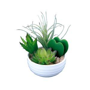 光の楽園【光触媒/人工観葉植物】寄せ植えラブリー - 拡大画像